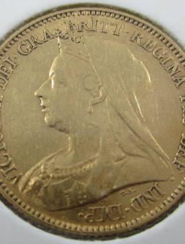 1900 Perth Veiled Head Half Sovereign