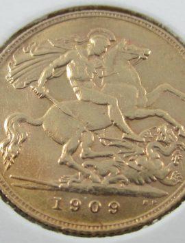 1909 Perth Half Sovereign