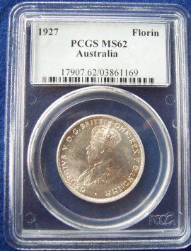 1927 Florin PCGS MS62