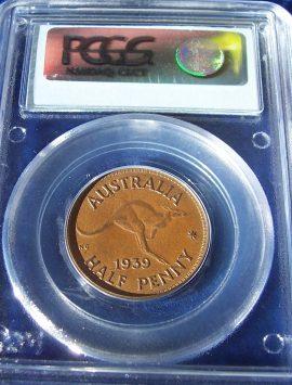 1939 Half Penny PCGS AU58 - KM-41 Roo reverse