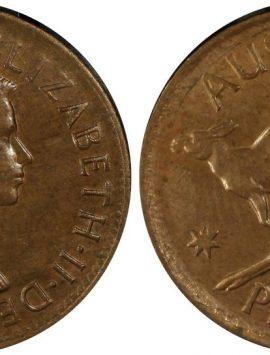 1955 Perth Penny MS63BN