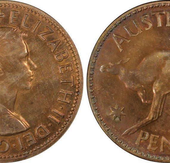 1956 (m) Proof Penny