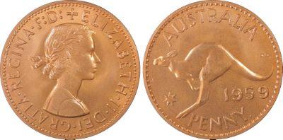 1959 Perth Proof Penny - PCGS PR66RD
