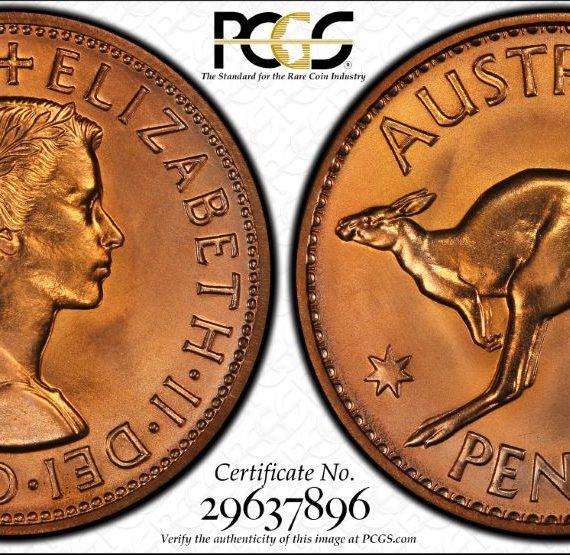 1963 Penny PROOF! PCGS PR66 RD