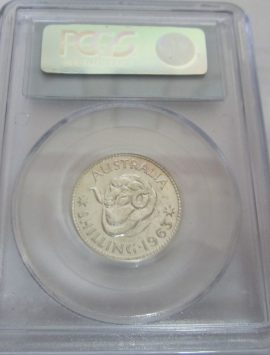 1963 Proof shilling in PCGS PR65