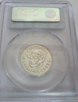 1963 Proof shilling in PCGS PR65