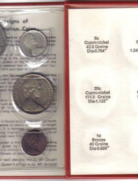1970 Mint Coin Set. Captain Cook 50 c