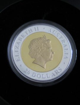 2000 Perth Mint Bi Metal Millennium Coin. Spectacular gold + silver PROOF