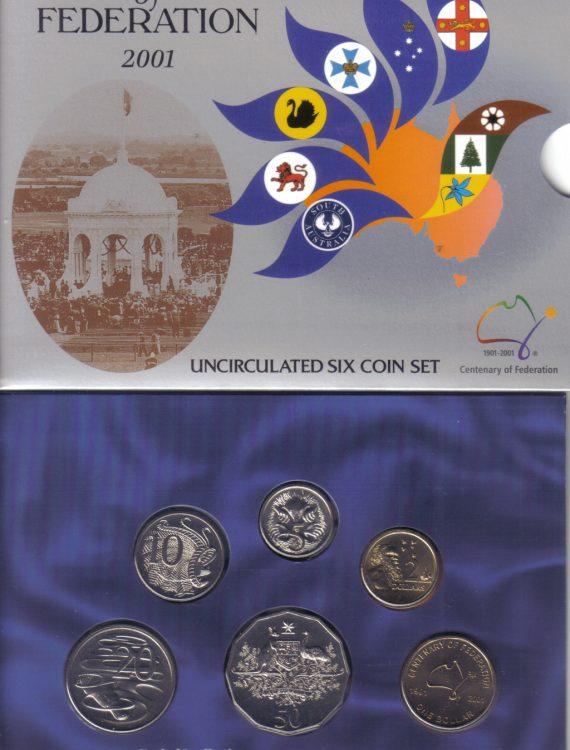 2001 Mint Coin Set.