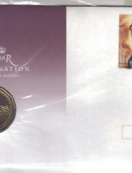 2003 Queen Elizabeth Golden Jubilee PNC STAMP COIN & COVER