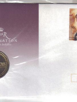 2003 Queen Elizabeth Golden Jubilee PNC STAMP COIN & COVER