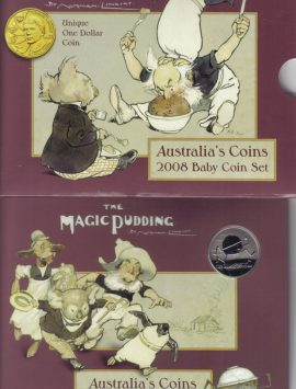 2008 Baby Mint Coin Set. Magic Pudding