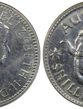 1959 PROOF shilling in PCGS PR66