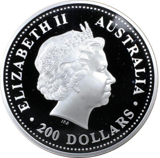 2001 Silver Kookaburra $200 MULE. PCGS PR68 DCAM