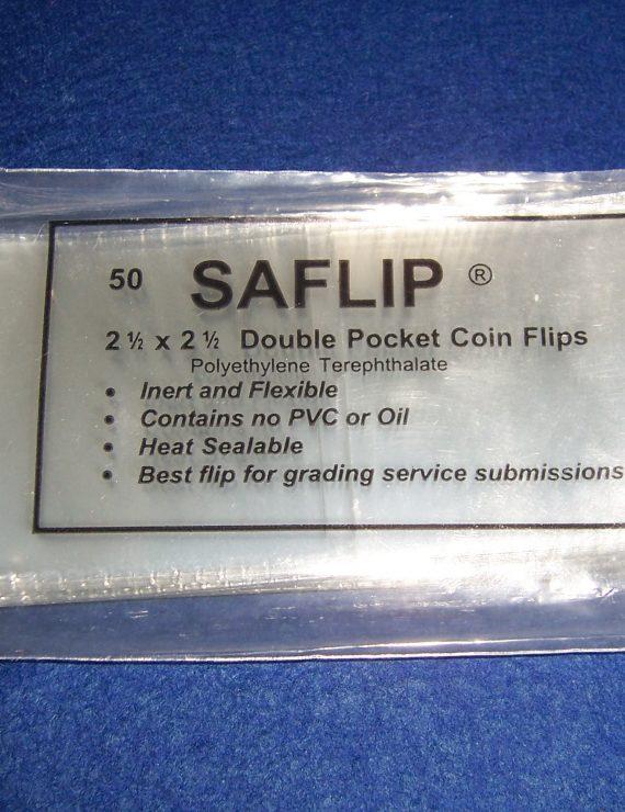 """150 Double pocket Mylar 2.5"""" x 2.5"""" flips"""