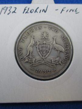1932 Florin. Original and in good fine