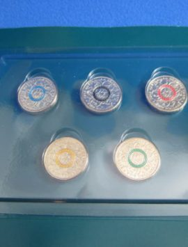 2016 Coloured $2 OLYMPIC coins