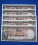Coombs Wilson R63 Ten Pound Note, Choose from a run of 5