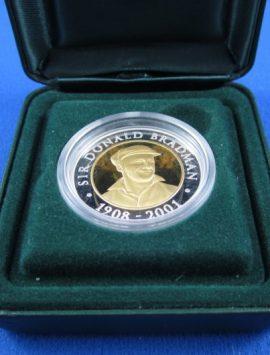 2001 Bradman Bi Metal $20 coin
