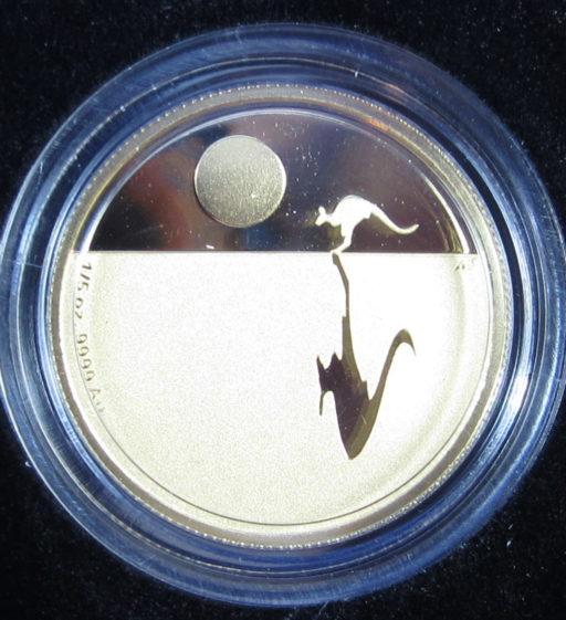 2010 Kangaroo at Sunset Gold proof coin