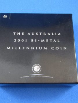 2001 $20 Bi Metal Gregorian Calendar coin
