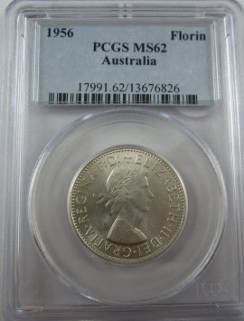 1956 Florin PCGS MS62 - BRILLIANT