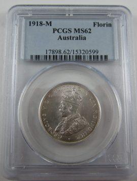 1918 Florin PCGS MS62