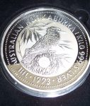 1993 Kilo Silver coin with Japanese Royal Wedding Privy.