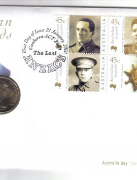 Australian Legends PNC The Last Anzacs. Excellent condition. Buy now
