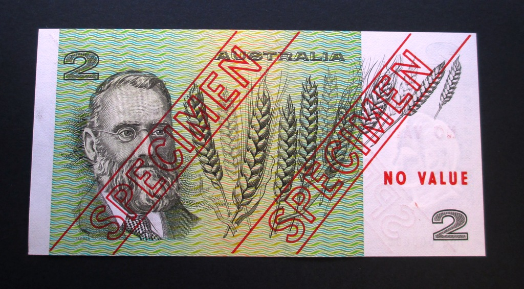 1974 Two Dollar Specimen Note Type 3