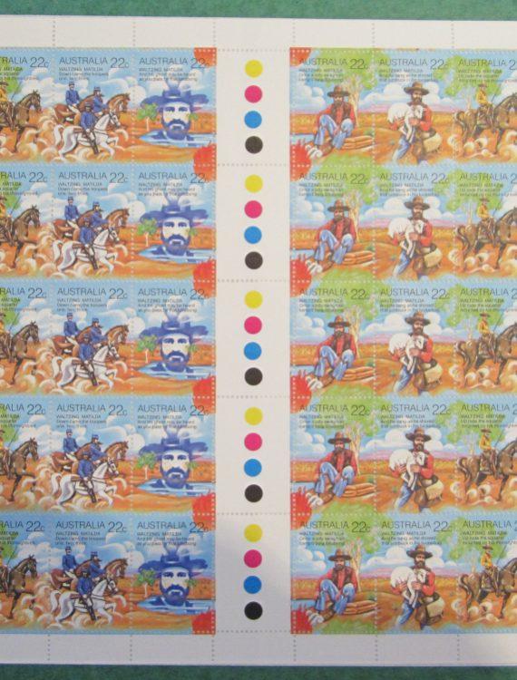 1980 Australian Folklore Full sheet MNH
