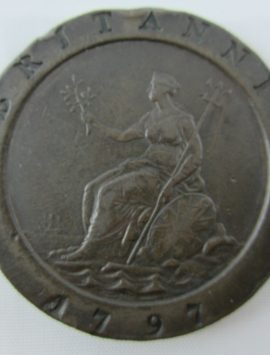 Proclamation coin - 1797 TWO PENNY CARTWHEEL TWO PENCE
