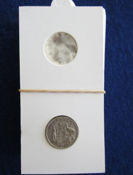 Coin holder for the sixpence. Packet of 50