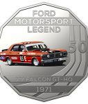 10013_D_Reverse of the 2018 fifty cent uncirculated High Octane Ford Performance Collection Coin - XY Falcon GTHO_1