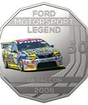 10017_D_Reverse of the 2018 fifty cent uncirculated High Octane Ford Performance Collection Coin - BA Falcon_1