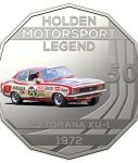 10021_D_Reverse of the 2018 fifty cent uncirculated High Octane Holden Performance Collection Coin - LJ Torana_1