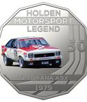10022_D_Reverse of the 2018 fifty cent uncirculated High Octane Holden Performance Collection Coin - LX Torana_1