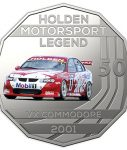 10025_D_Reverse of the 2018 fifty cent uncirculated High Octane Holden Performance Collection Coin - VX Commodore_1