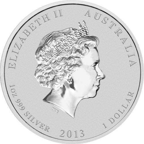 3113-Australian-Lunar-Snake-2013-1oz-Silver-Gilded-Bullion-Coin-Obverse